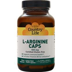 Country Life L-Arginine Caps (500mg) 100 vcaps