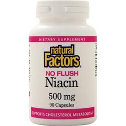 Natural Factors No Flush Niacin (500mg) 90 caps