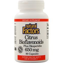 Natural Factors Citrus Bioflavonoids plus Hesperidin (650mg) 90 caps