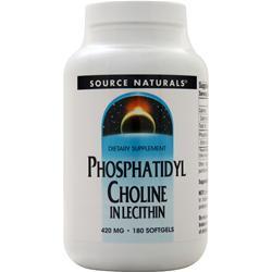 Source Naturals Phosphatidyl Choline 180 sgels