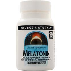 Source Naturals Melatonin - Sublingual (5mg) Orange 100 tabs