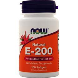 Now E-200 Mixed Tocopherols 100 sgels