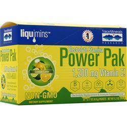 Trace Minerals Research Electrolyte Stamina Power Pak Lemon Lime 32 pckts