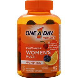 Bayer Healthcare ONE A DAY Women's VitaCraves Gummies Berry, Cherry, Orange 150 gummy