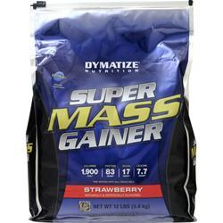 Dymatize Nutrition Super Mass Gainer Strawberry 12 lbs