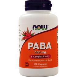 Now PABA (500mg) 100 caps