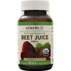 Eclectic Institute Fresh Freeze-Dried Beet Juice Powder 90 grams