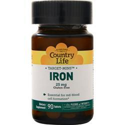 Country Life Target-Mins Iron (25mg) 90 tabs