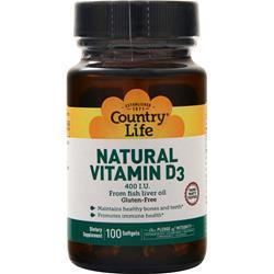 Country Life Natural Vitamin D3 (400 IU) 100 sgels