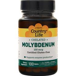 Country Life Chelated Molybdenum 100 tabs