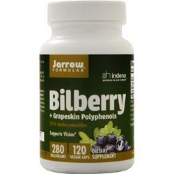 Jarrow Bilberry plus Grapeskin Polyphenols (280mg) 120 caps
