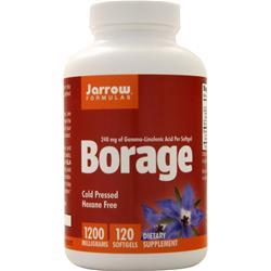 Jarrow Borage GLA-240 - Cold Pressed Hexane Free 120 sgels
