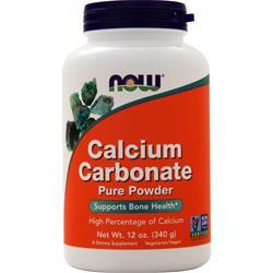 Now Calcium Carbonate - 100% Pure Powder 12 oz