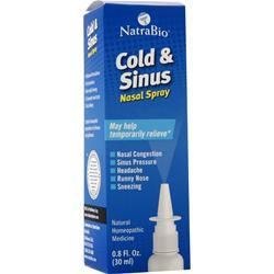 Natrabio Cold & Sinus Nasal Spray .8 fl.oz