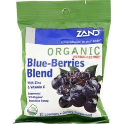 Zand Organic Herbalozenge Blue-Berries Blend 18 lzngs