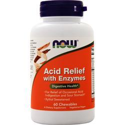 Now Acid Relief with Enzymes 60 chews