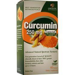 Genceutic Naturals Curcumin (250mg) 60 sgels