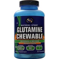 Natural Sport Glutamine (1,500mg) Chewable Orange 60 chews