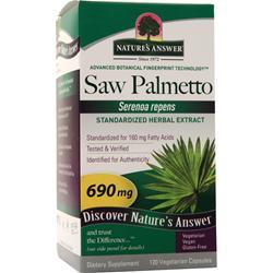 Nature's Answer Saw Palmetto Extract 120 vcaps