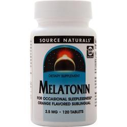 Source Naturals Melatonin  - Sublingual (2.5mg) Orange 120 tabs