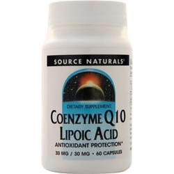 Source Naturals Coenzyme Q10 Lipoic Acid (30mg/30mg) 60 caps