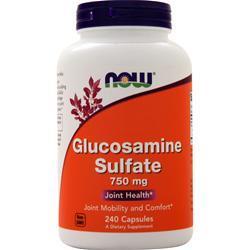 Now Glucosamine Sulfate (750mg) 240 caps