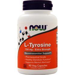 Now L-Tyrosine (750mg) 90 caps