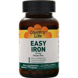 Country Life Easy Iron 25mg On Sale At Allstarhealth Com