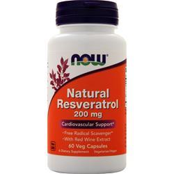 Now Natural Resveratrol - Mega Potency 60 vcaps