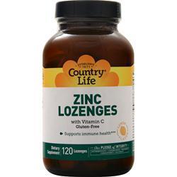 Country Life Zinc Lozenges Lemon 120 lzngs