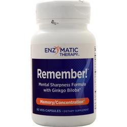 Enzymatic Therapy Remember! Mental Sharpness Formula 60 vcaps