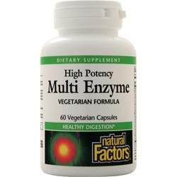 Natural Factors Multi Enzyme High Potency 60 caps