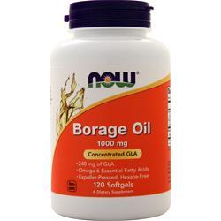 Now Borage Oil (240mg GLA) 120 sgels