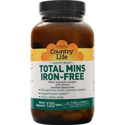 Country Life Target Mins - Total Mins (Iron-Free) 120 tabs