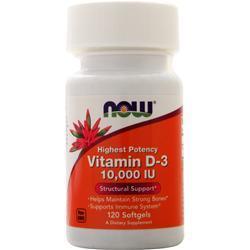 Now Vitamin D-3 (10,000IU) 120 sgels