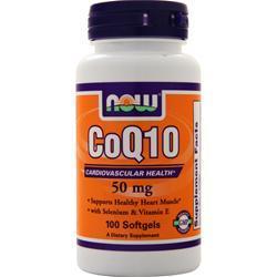 Now CoQ10 (50mg) w/ Selenium and Vitamin E 100 sgels