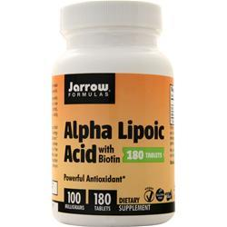 Jarrow Alpha Lipoic Acid with Biotin 180 tabs