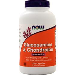 Now Glucosamine & Chondroitin with ConcenTrace Minerals 240 caps