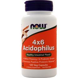 Now 4 x 6 Acidophilus 120 caps
