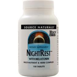 Source Naturals NightRest with Melatonin 100 tabs