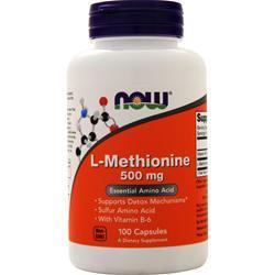 Now L-Methionine (500mg) 100 caps