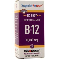 Superior Source No Shot Methylcobalamin B-12 (10,000mcg) - Extra Strength 30 tabs