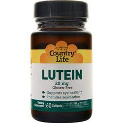 Country Life Lutein (20mg) 60 sgels