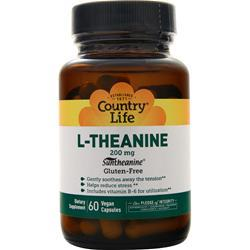 Country Life L-Theanine (200mg) 60 vcaps