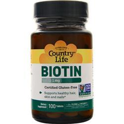 Country Life Biotin (1mg) 100 tabs