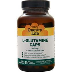 Country Life L-Glutamine Caps (500mg) 100 vcaps