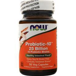 Now Probiotic-10 (25 Billion) 50 vcaps