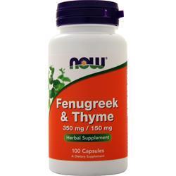 Now Fenugreek & Thyme 100 caps
