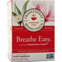 Traditional Medicinals Breathe Easy Herbal Tea 16 pckts