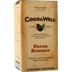 Reserveage Organics CocoaWell Maximum Potency Organic Cocoa 60 vcaps